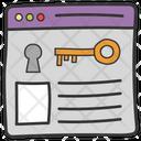 Web Hosting Web Authorization Web Access Icon