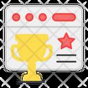 Web Award Web Trophy Web Prize Icon