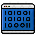 Web Binary Coding Icon