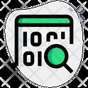 Web Binary Search Binary Search Data Search Icon
