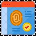 Web Biometric Web Privacy Webpage Privacy Icon