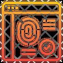 Web Biometric Icon