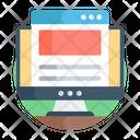 Online Blog Web Blog Web Design Icon