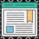 Web Blogging Web Content Web Article Icon