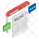 Web Blogging Content Journal Icon