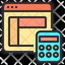 Web calculator Icon