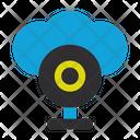 Web Cam Cloud Security Connection Icon