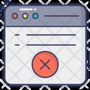 Web Cancel Web Delete Web Waste Icon