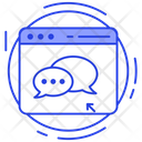 Computer Chat Online Chatting Social Media Conversation Icon