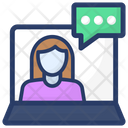 Online Chat Social Media Online Communication Icon