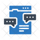 Chat Discussion Webpage Icon