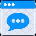 Web Conversation Web Communication Online Discussion Icon