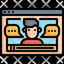 Web Interface Communication Icon