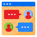 Web Chat Online Chat Chat Icon