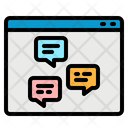 Web Chat Browser Webboard Icon