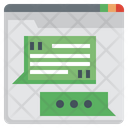 Web Chat Chat Quote Icon
