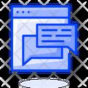 Web Chat Web Chatting Web Communication Icon
