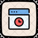 Web Clock Web Page Browser Icon