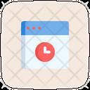 Web Clock Icon