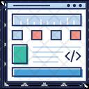 Web Coding Web Designing Programming Language Icon
