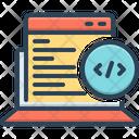 Web Coding Summarize Arrange Icon