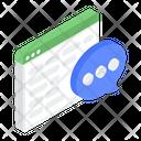 Web Communication Online Chat Online Conversation Icon