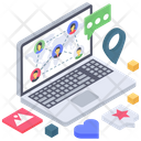 Web Communication Network Communication Network Social Network Icon