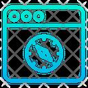 Web Compass Icon