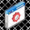 Web Settings Web Configuration Web Maintenance Icon