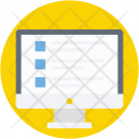 Web Content Wireframe Icon