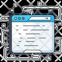 Blogging Online Content Web Content Icon