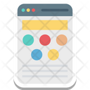 Web Content Web Grid Wireframe Icon