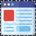 Web Content Web Interface Web Design Icon