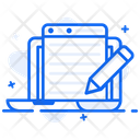 Web Content Article Writing Content Writing Icon