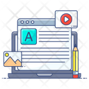Article Writing Writing Content Writing Icon