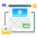 Page Content Web Content Video Content Icon