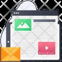 Video Content Web Content Web Design Icon