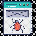 Web Crawler Web Bug Website Malware Icon