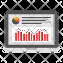 Online Analytics Online Infographic Online Statistics Icon