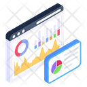 Web Statistics Web Infographic Online Data Icon
