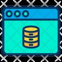 Web Webpage Data Icon