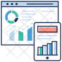 Web Data Analytics Online Analytics Data Analytics Icon