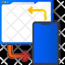 Web Data Exchange Mobile To Web Data Sharing Icon