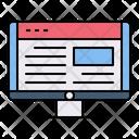 Web Design User Interface Layout Icon