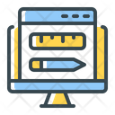 Web Design Ruler Seo Icon