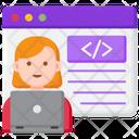 Web Designer Female Web Designer Web Developer Icon