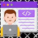 Web Designer Male Web Designer Web Developer Icon