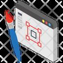 Web Designing Graphic Designing Sketching Icon