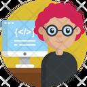 Web Developer Developer Female Icon