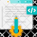 Web Developing Setting Programming Icon